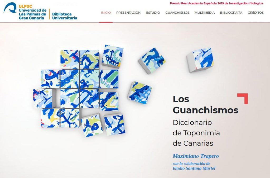 Los Guanchismos. Diccionario de toponimia de Canarias