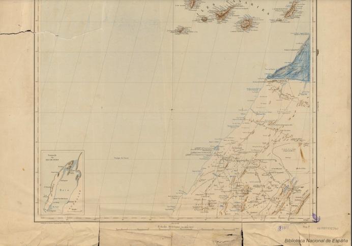 Mapa de la Biblioteca Digital Hispánica