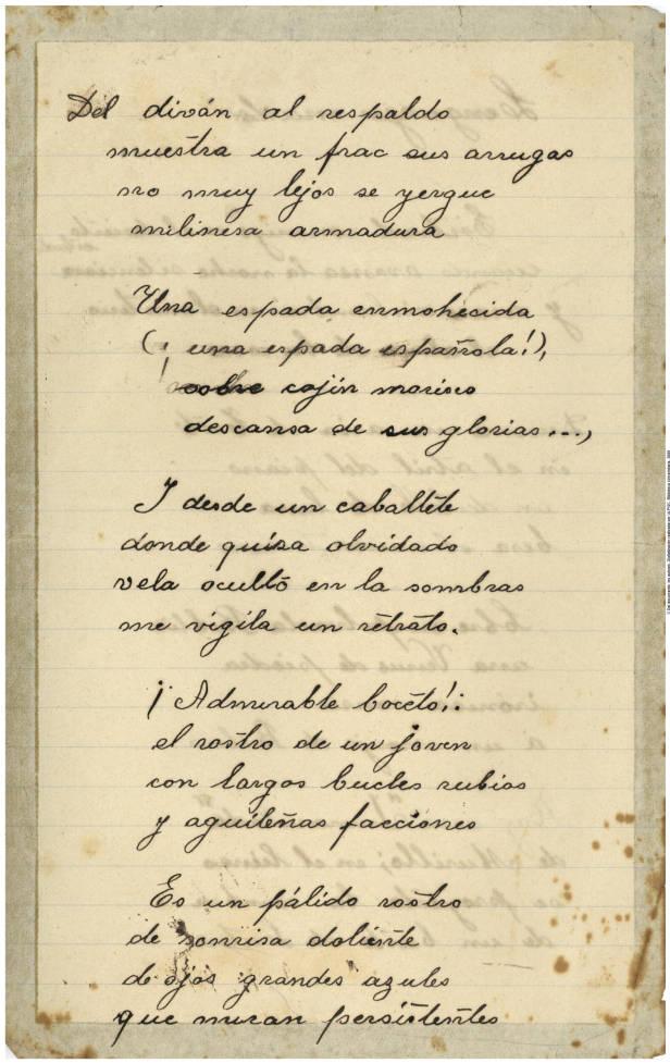 Manuscrito autógrafo de Saulo Torón